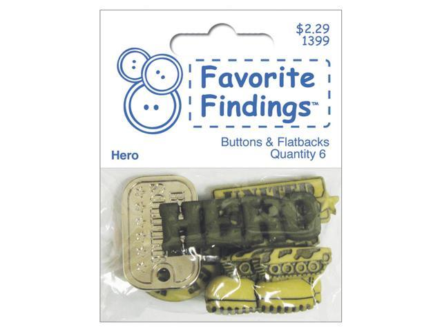Favorite Findings Buttons-Hero 6/Pkg