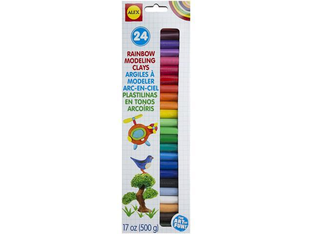 Modeling Clay .7oz 24/Pkg-Assorted Colors