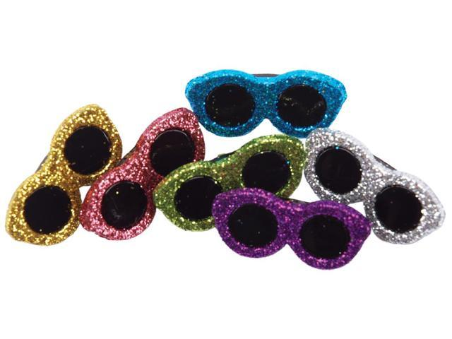 Dress It Up Embellishments-Glitter Sunglasses