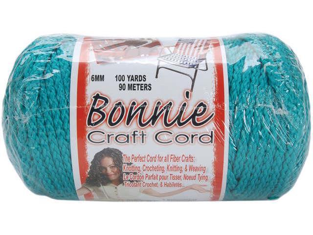 Bonnie Macrame Craft Cord 6mmX100yd-Turquoise