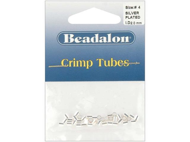 Crimp Tubes Size 4 1.5g-Silver-Plated