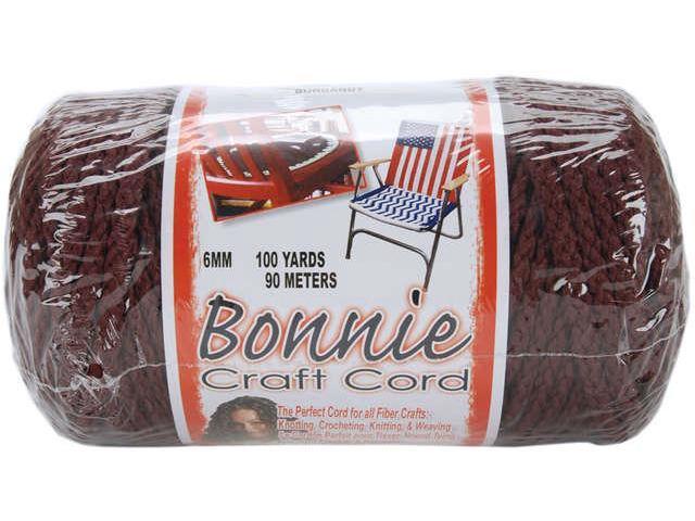 Bonnie Macrame Craft Cord 6mmX100yd-Burgundy