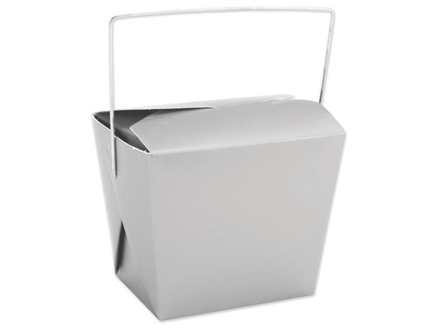 Noodle Boxes 8oz 5/Pkg-Silver Metallic