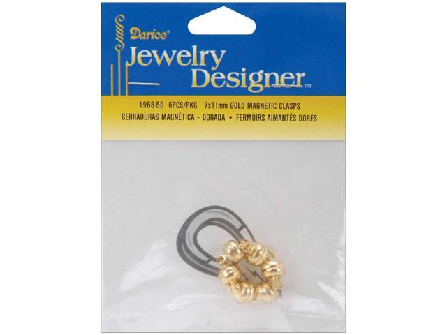 Magnetic Clasps 7mmX11mm 3/Pkg-Gold
