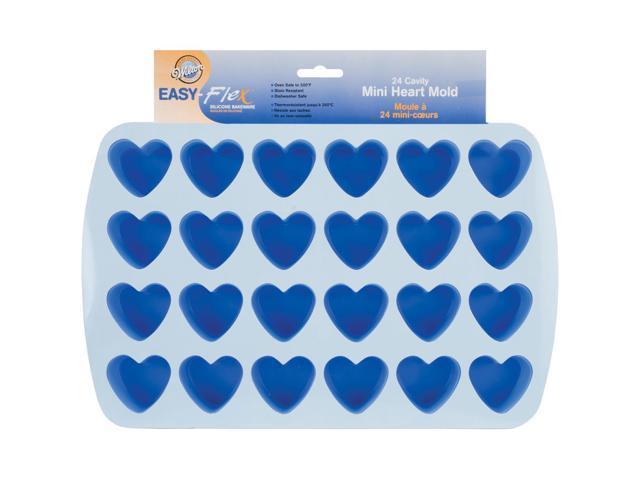 Easy-Flex Silicone Bite-Size Mold-24 Cavity Heart 1.5