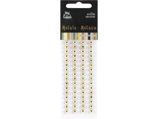 Raised Metal Dots 5mm Round 64/Pkg-Gold
