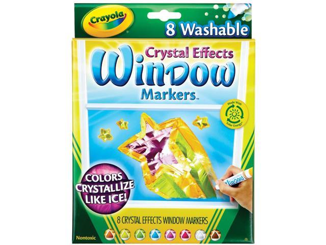 Crayola Crystal Effects Washable Window Markers-8/Pkg