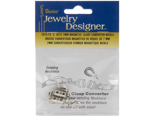 Magnetic Clasps 7mm 2/Pkg-Nickel