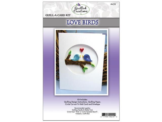 Quill-A-Card Kit-Love Birds