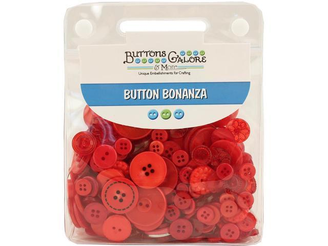 Buttons Galore Button Bonanza-Fire Engine Red