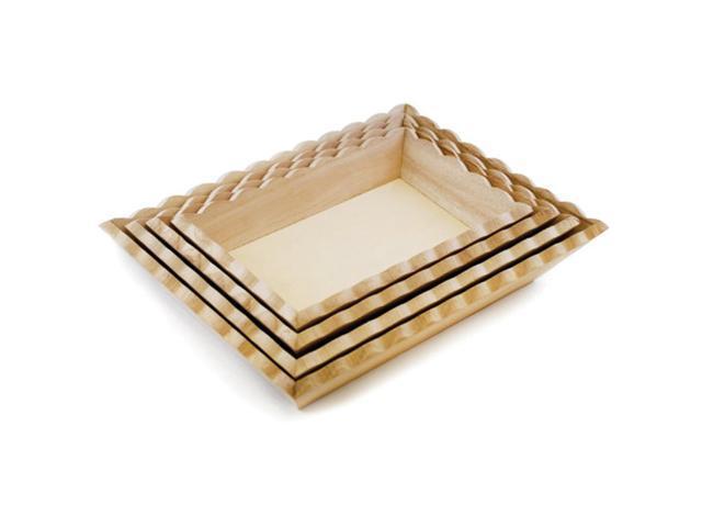 Paintable Wood Trays 4/Set-4.5