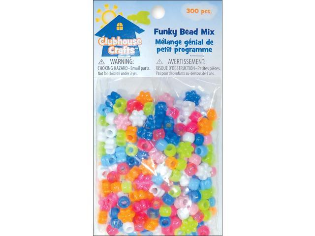 Clubhouse Crafts Beads 300/Pkg-Funky