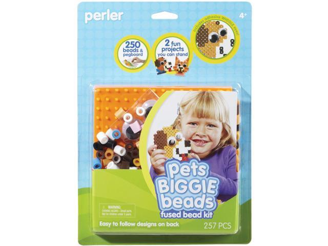 Perler Biggie Beads Fused Bead Kit-Pets