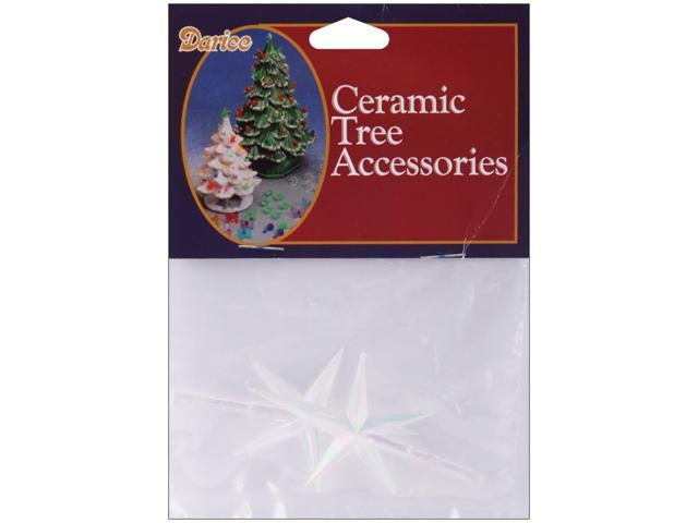 Ceramic Christmas Tree Stars 2.75