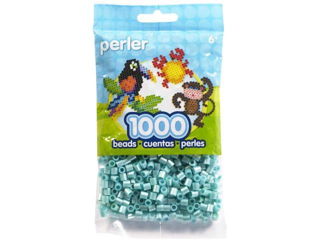 Perler Fun Fusion Pearl Beads 1000/Pkg-Light Blue