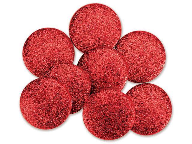 Dress It Up Big Glitter Dots 19mm 8/Pkg-Red