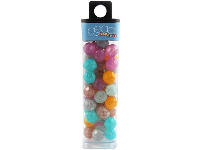 Square Tube Glass Beads 2oz-Snake Color Mix