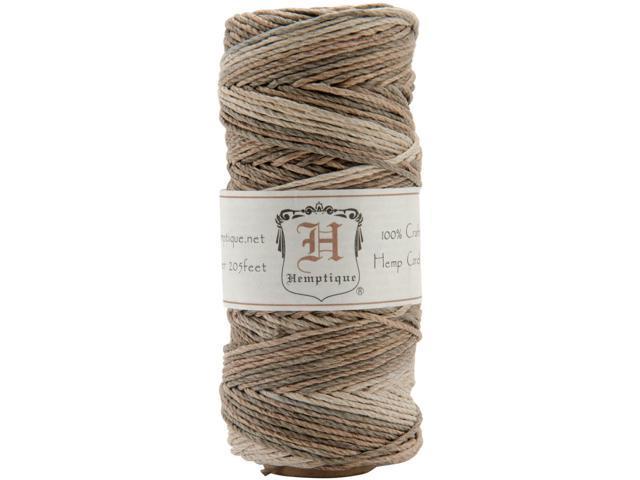 Hemp Variegated Cord Spool 20lb 205'-Earthy
