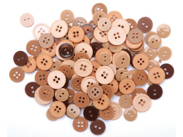 Favorite Findings Buttons 130/Pkg-Natural
