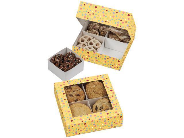 Compartment Boxes 3/Pkg-Sweet Dots 4 Cavity 6.3