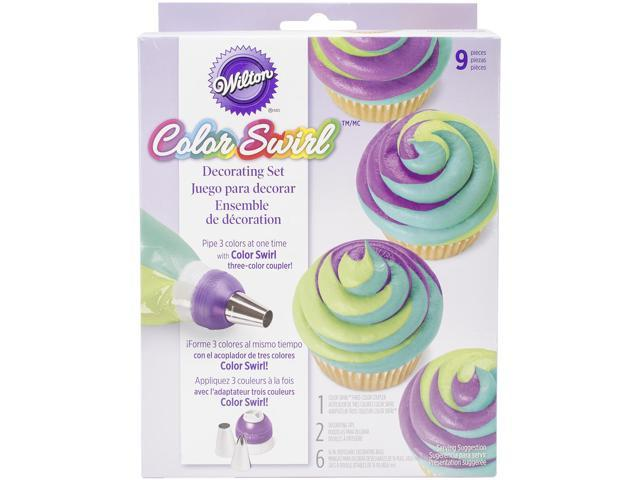 Color Swirl 3-Color Coupler Decorating Set-