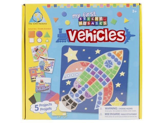 My First Sticky Mosaics Kit-Vehicle