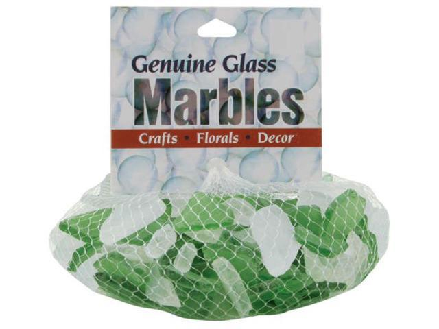Genuine Glass Gems 1lb-Green & Frost