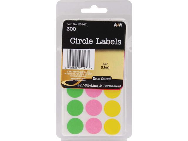 Labels-Neon Circles .75