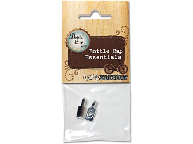 Bottle Cap Inc Vintage Bails 17mm 2/Pkg-Silver