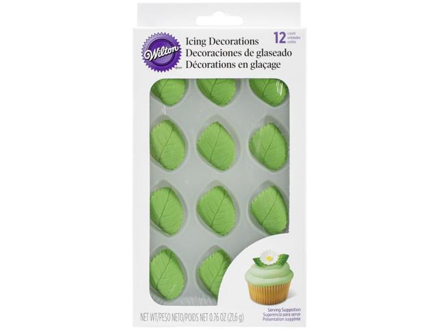 Icing Decorations 12/Pkg-Leaves