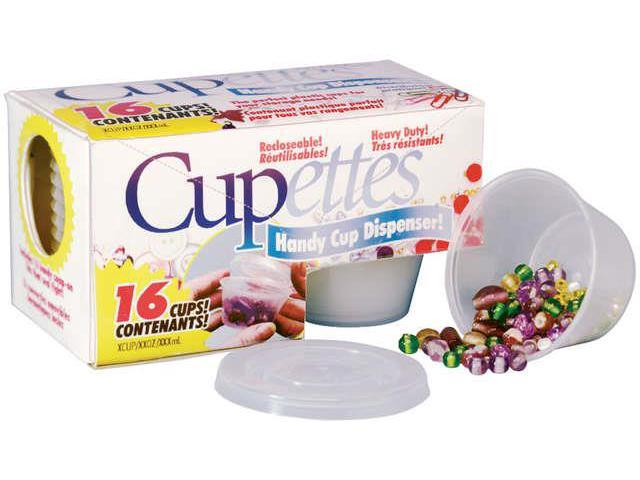 Cupettes Heavy-Duty Cups & Lids 16/Pkg-1.75oz Clear