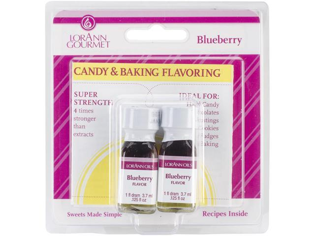 Candy & Baking Flavoring .125oz 2/Pkg-Blueberry
