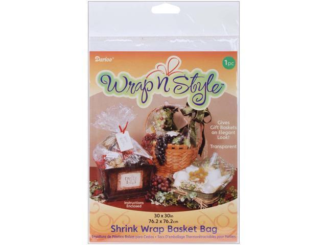 Wrap n Style Shrink Wrap Basket Bag 1/Pkg-30