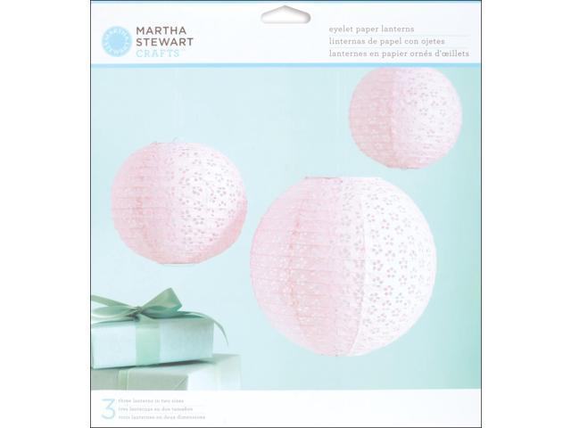 Vintage Girl Eyelet Paper Lanterns Makes 3-Pink