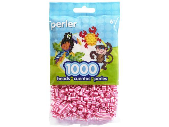 Perler Fun Fusion Striped Beads 1000/Pkg-Pink Candy