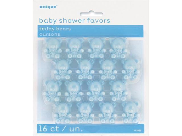 Party Favors 16/Pkg-Blue Teddy Bear