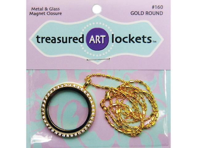 Jewelry Locket-Gold Round