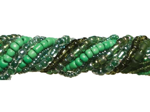Jewelry Basics Glass Seed Bead Mix 90g-Dark Green