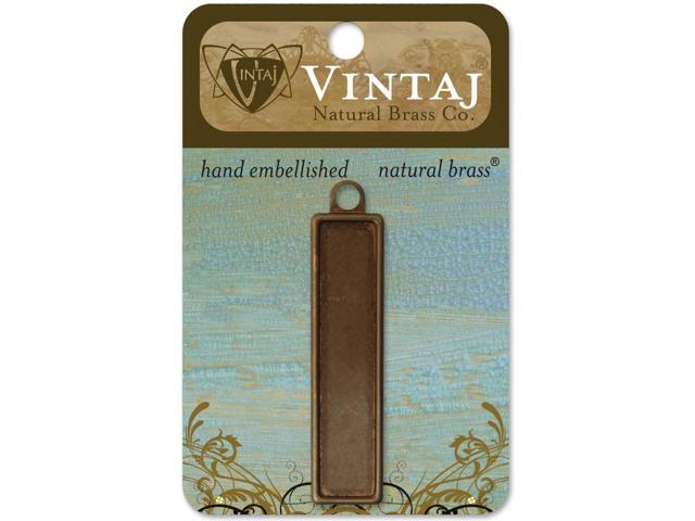 Vintaj Metal Bezel-Rectangle 56mm 1/Pkg