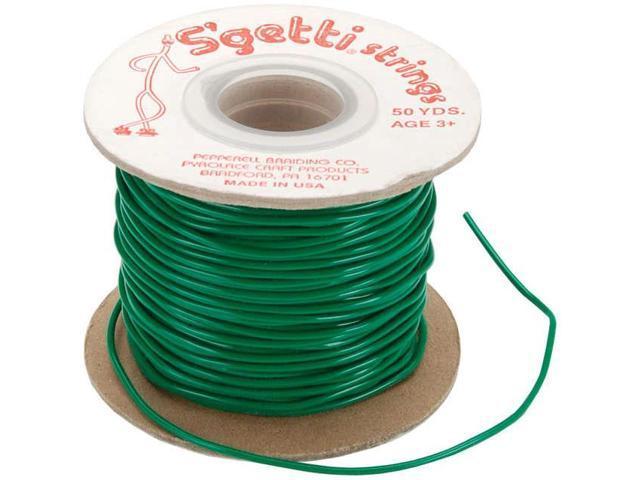 S'getti Strings Plastic Lacing 50yd-Kelly Green