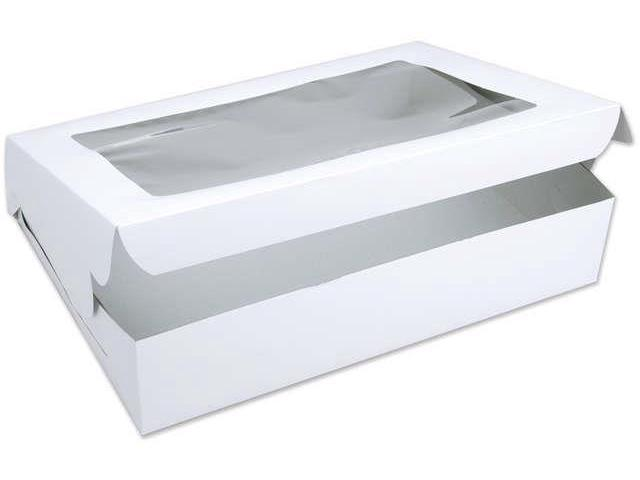 Window Cake Box-White 14