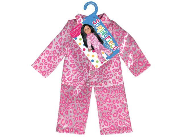 Springfield Collection Leopard Pajamas-Pink & White
