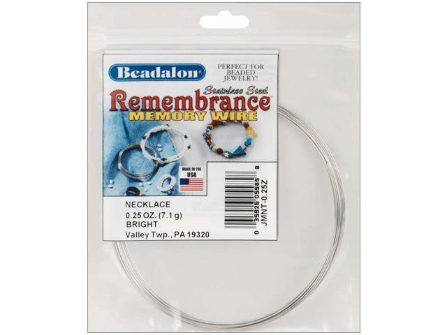 Remembrance Memory Wire Necklace .62mm .25oz-Bright - 9 Coils