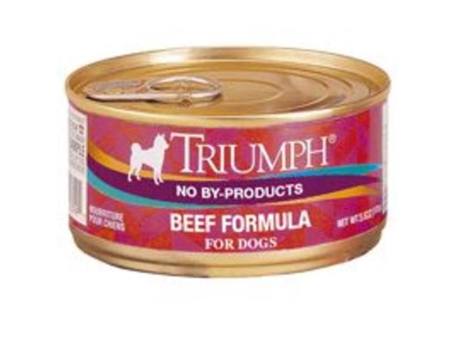 Triumph Pet -Triumph Beef Formula - Dog Food (24/5.5 Oz Cans)