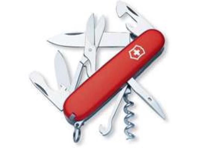 Swiss Army 56381 Climber Pocket Knife, Red