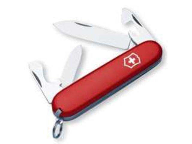 "Victorinox VNVN53241 Knives Folder Knife Red Recruit 3 1/4"" Closed Features Larg"