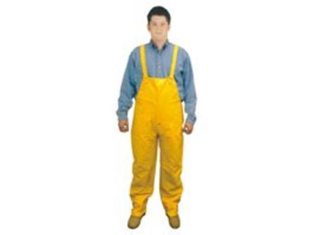 Diamondback 8117B-L Bib Overall PVC Yellow Large Pvc &  Polyester Laminate -