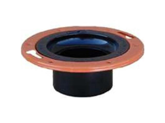 Genova Products 85146 4 inch X 3 inch ABS-DWV Closet Flange With Adjustable Meta