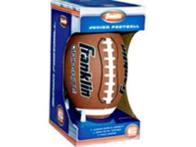Franklin 5010 Junior Rubber Football-Tee Set