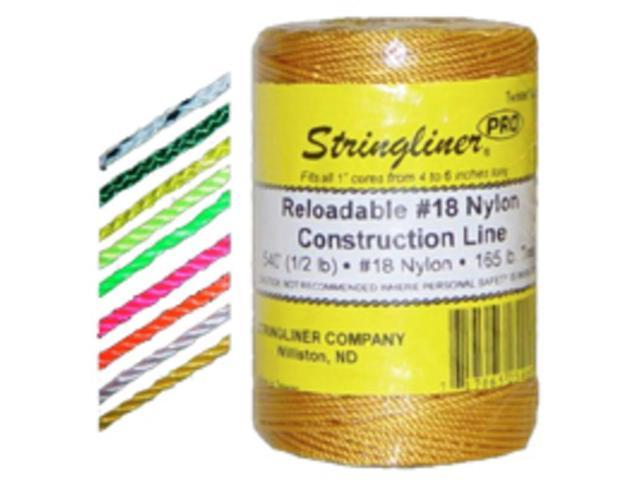 Stringliner Company 35459 Twine 500-Foot Braid Fluorescent Orange Braided Nylon